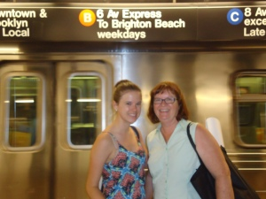 Kate & Holly haunting the NYC subway system.