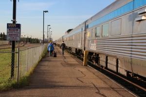 The Canadian stops at Edmonton Alberta