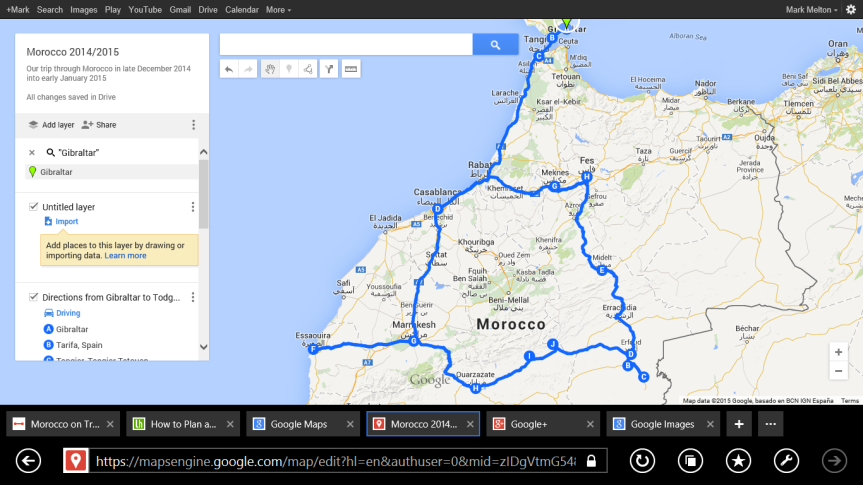 Morocco Itinerary Map